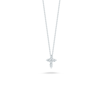 Roberto Coin Small Diamond Cross Pendant