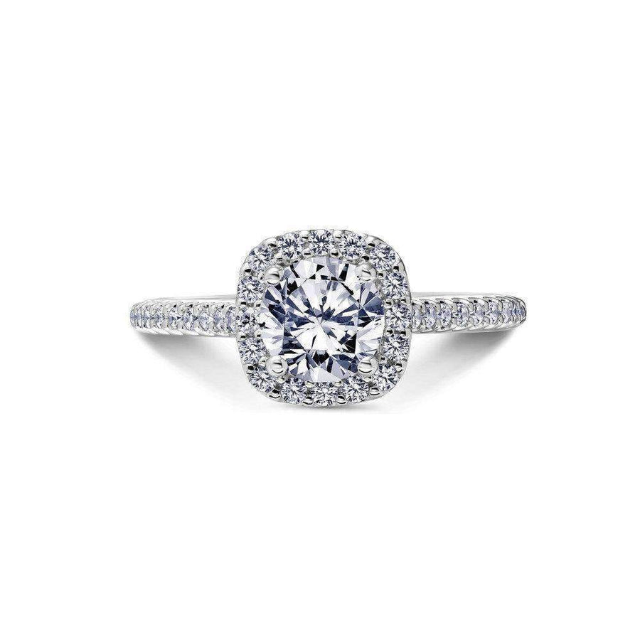 Scott Kay Cushion Diamond Halo Engagement Ring