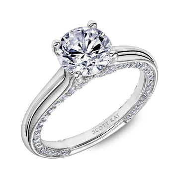 Scott Kay Diamond Gallery Engagement Ring