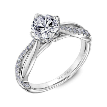 Scott Kay Diamond Gallery Twisted Shoulder Contemporary Engagement Ring