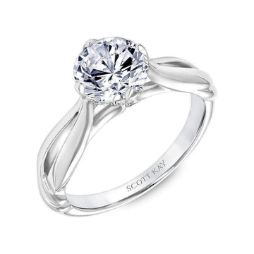 Scott Kay Gallery Twisted Shoulder Solo Diamond Engagement Ring