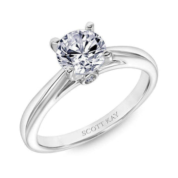 Scott Kay Solo Solitaire Diamond Gallery Engagement Ring