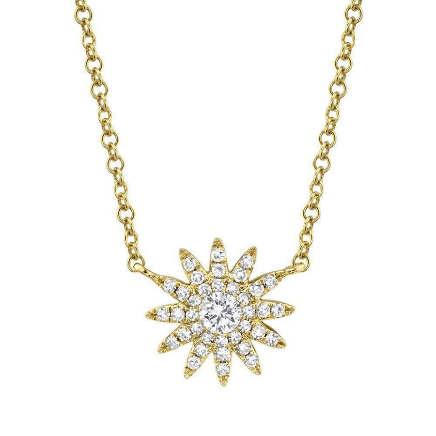 Shy Creation Diamond Starburst Necklace