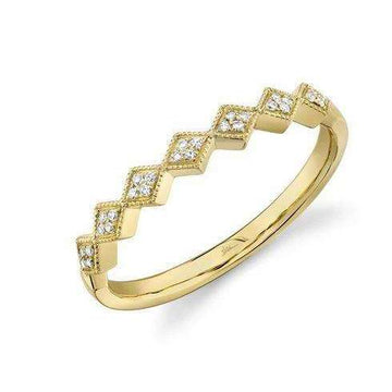 Shy Creation Milgrain Edged Diamond Shape Band