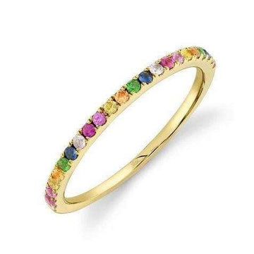 Shy Creation Multi-Color Stone Band