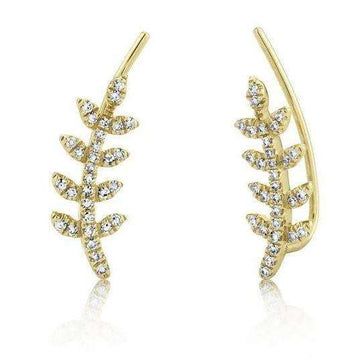 Shy Creation's Diamond Leaf Climber Earring
