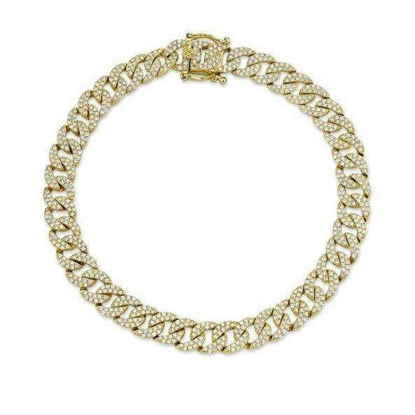 Shy Creation's Havana Pave Cuban Link Chain Bracelet