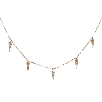 Shy Creations Pave Diamond Station Necklace