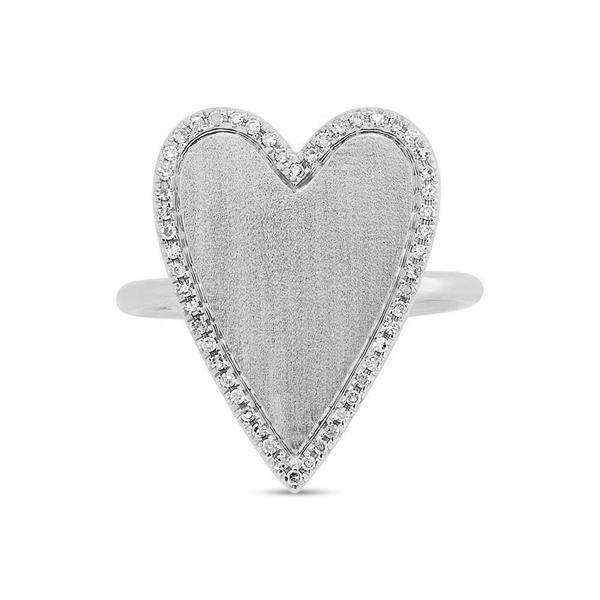 Shy Creation's White Gold Diamond Heart Ring