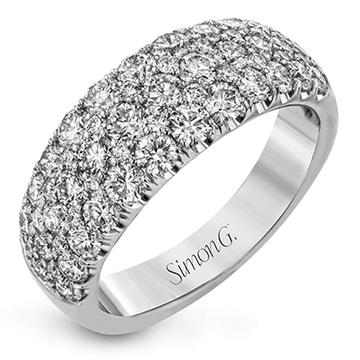 Simon G. Diamond Pave Wedding Band