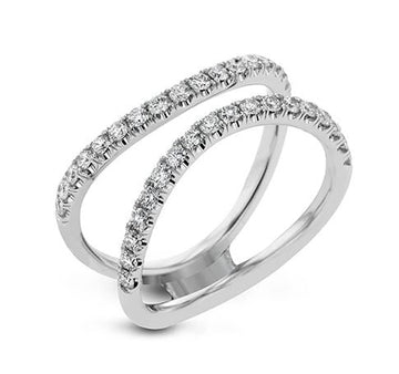 Simon G Double Diamond Wedding Band Ring