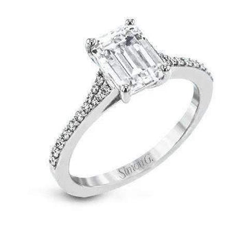 Simon G Emerald Cut Diamond Engagement Ring