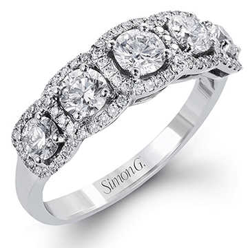 Simon G. Five Stone Halo Diamond Band
