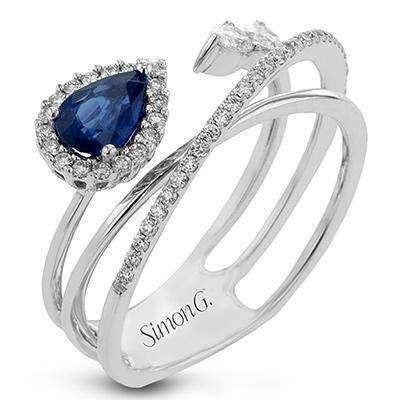 Simon G. Modern Enchantment Sapphire & Diamond Crossover Ring