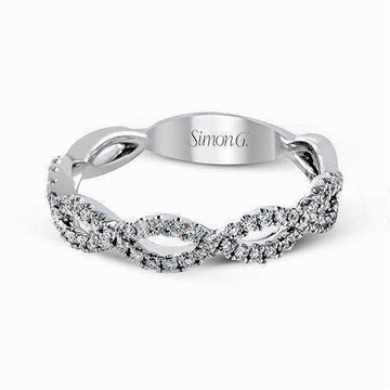 Simon G Open Twist Pave Diamond Wedding Band