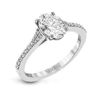 Simon G Oval Cut Engagement Ring