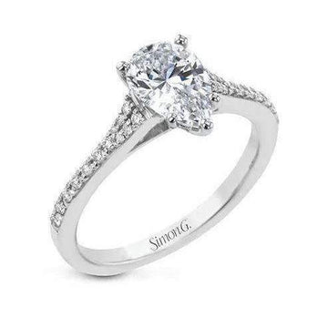 Simon G Pear Cut Engagement Ring