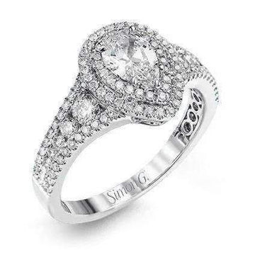 Simon G. Pear Double Halo Ring