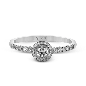Simon G. Romantic Petite Round Halo Ring