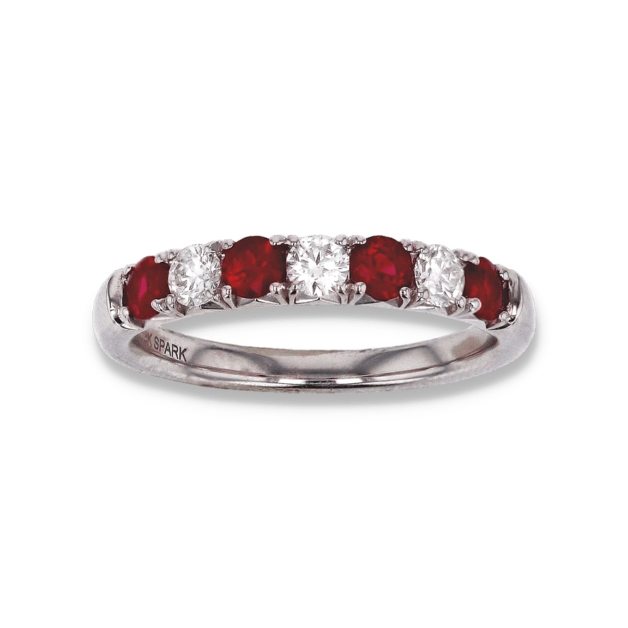 Spark Ruby & Diamond Alternating Band