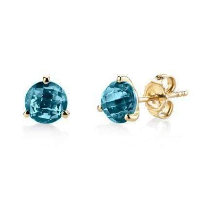Stanton Color London Blue Topaz Studs