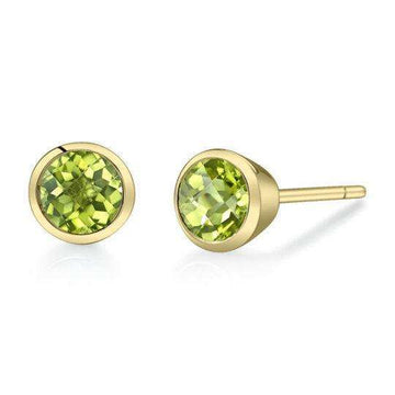 Stanton Color Peridot Bezel Stud Earrings