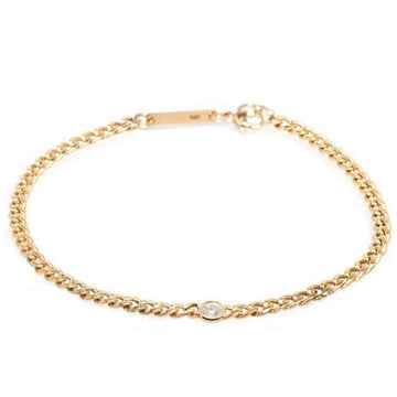 Zoe Chicco Curb Chain Bracelet with Single Floating Diamond