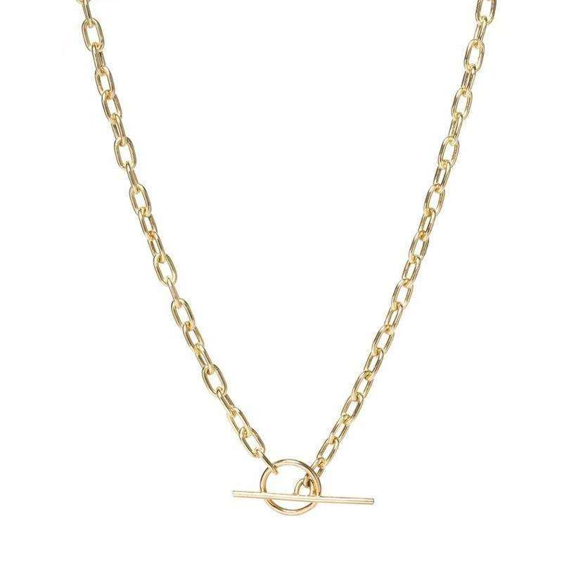 Zoe Chicco Medium Oval Link Chain Toggle Necklace