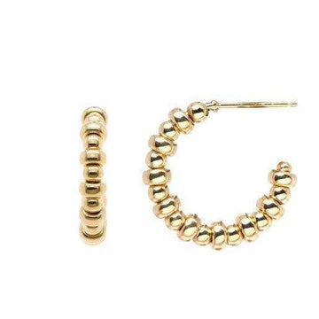 Zoe Chicco Small Hoops with Mixed Beads