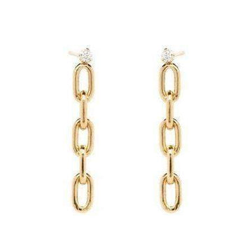 Zoe Chicco Square Oval Link Chain Dangle Earrings