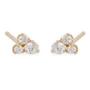Zoe Chicco Three Mixed Diamond Prong Studs