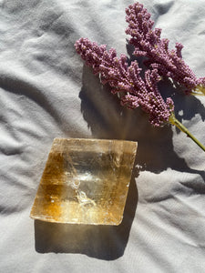 Honey Calcite Incense Holder