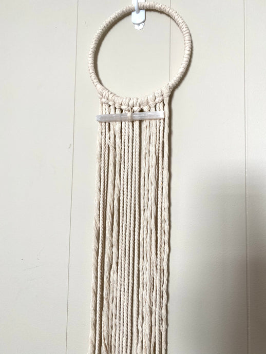 Cream Selenite Wall Hanging