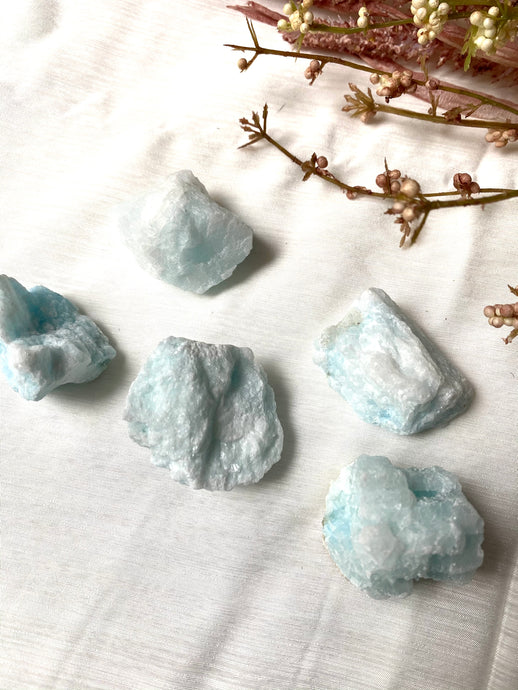 Blue Aragonite Rough Small