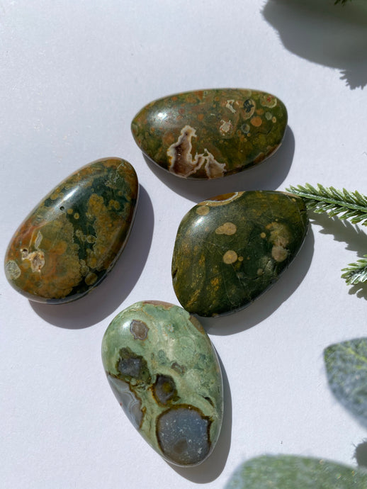 Rainforest Jasper Smooth Stone