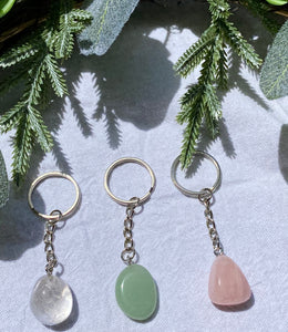 Rose Quartz Key Ring