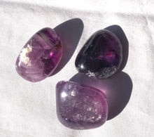 Load image into Gallery viewer, Purple Fluorite Tumble Stone