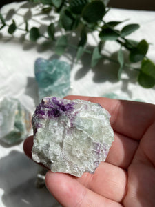 Rainbow Fluorite Rough Large