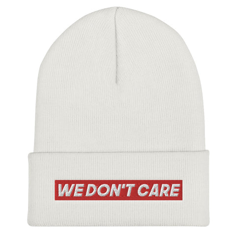 BONNET BLANC WE DON'T CARE RED