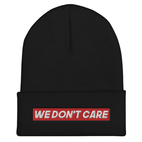 BONNET NOIR WE DON'T CARE RED
