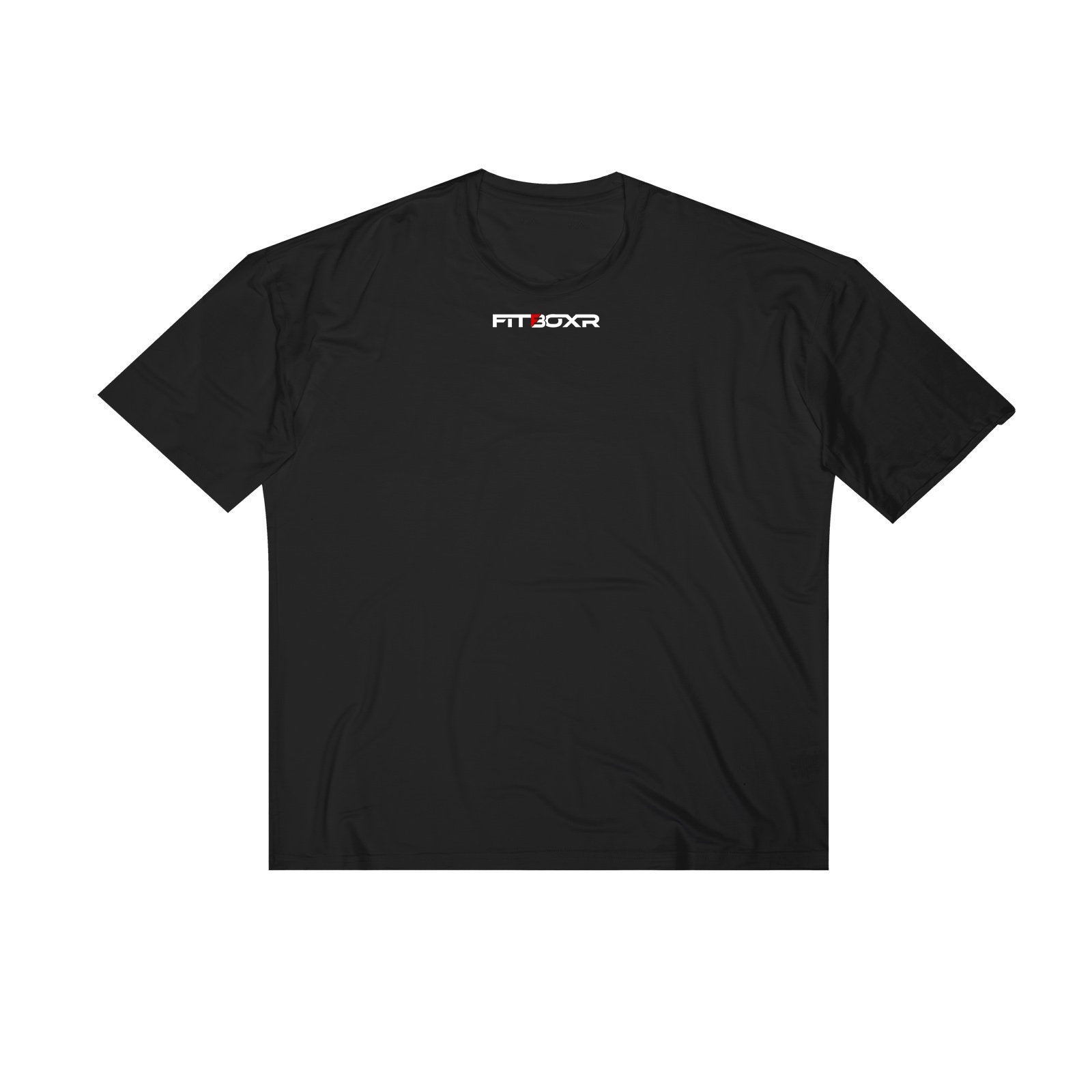 Stitched Logo Relaxed Tee - Black