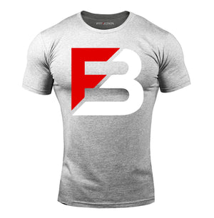 Bold Logo TECH-FIT™ Tee - Light Grey
