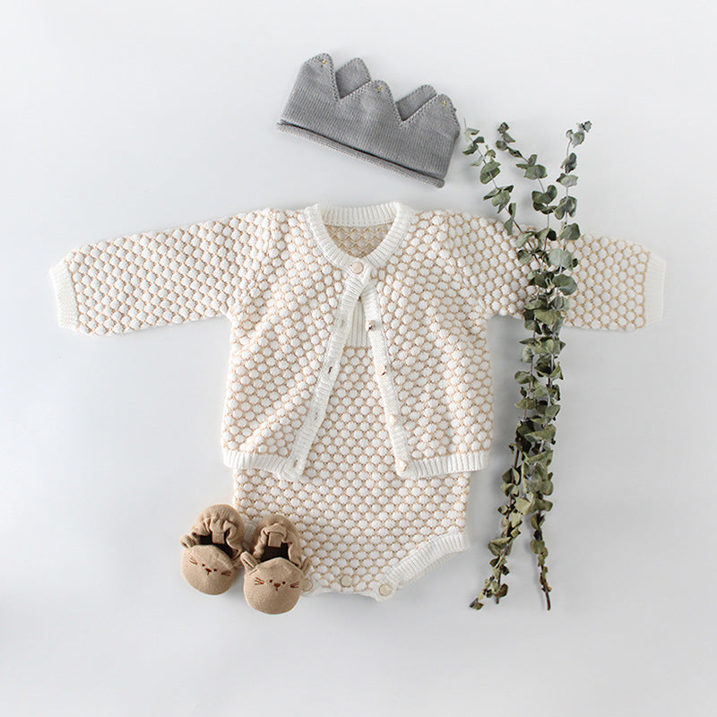 Girls 2 piece Cardigan and dungarees set