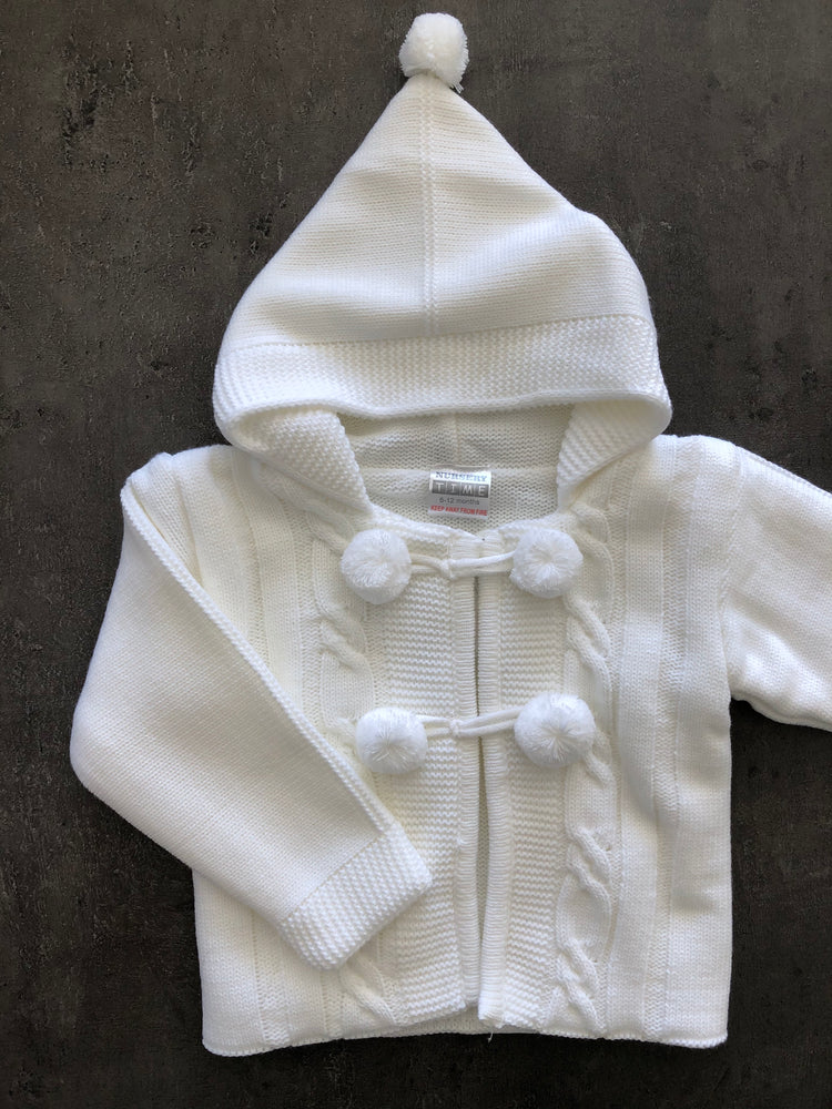 Boy / Girl Pom Pom Hooded Coat