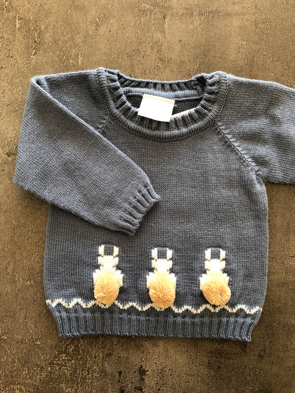 Boys Knitted 2 piece outfit with bunnies.