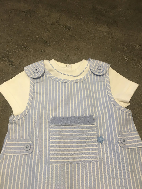 Boys Striped Dungaree & tee shirt Set