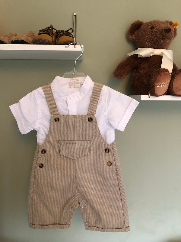 Grandad collar Shirt and Dungaree Set