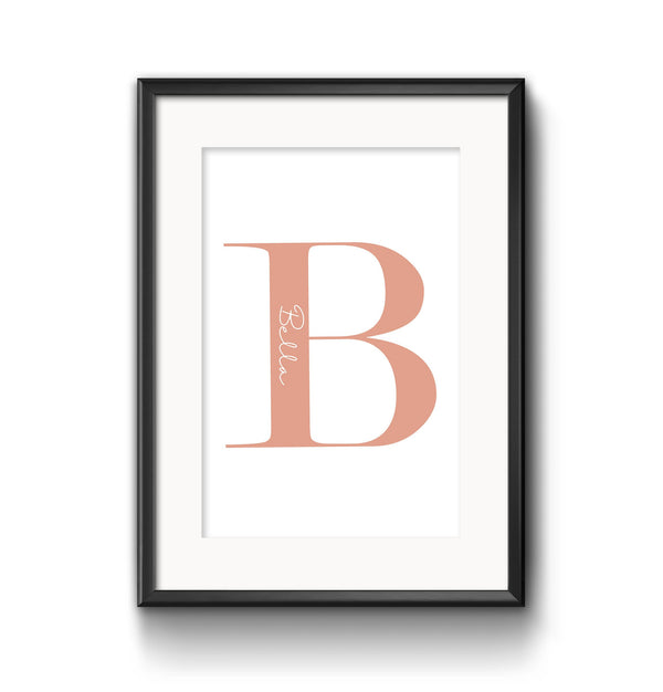 Personalised Peach Letter - A5