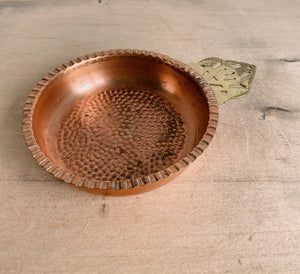 Small Hammered Copper Trinket Dish