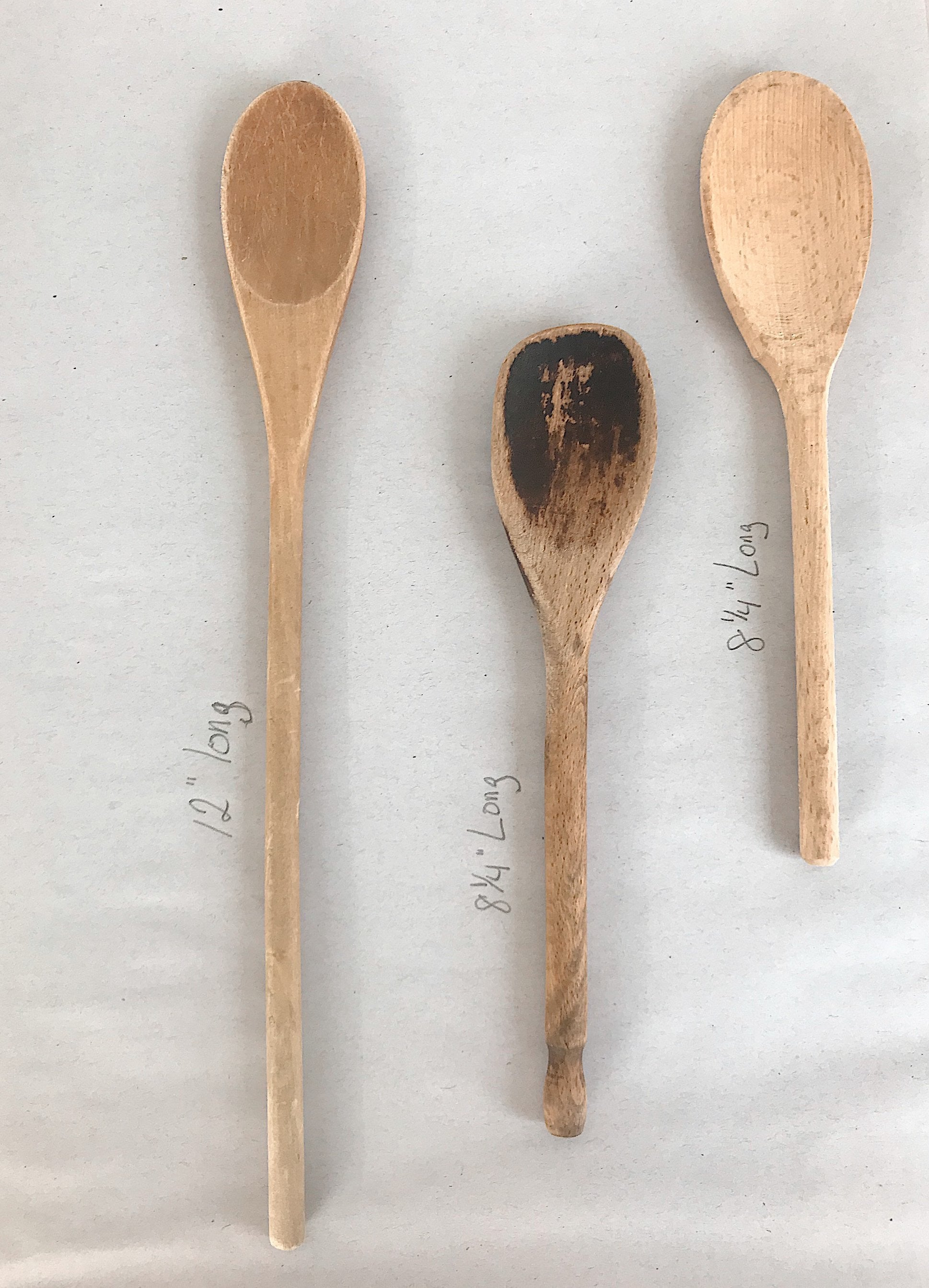 Set of Three Well Loved Wood Spoons